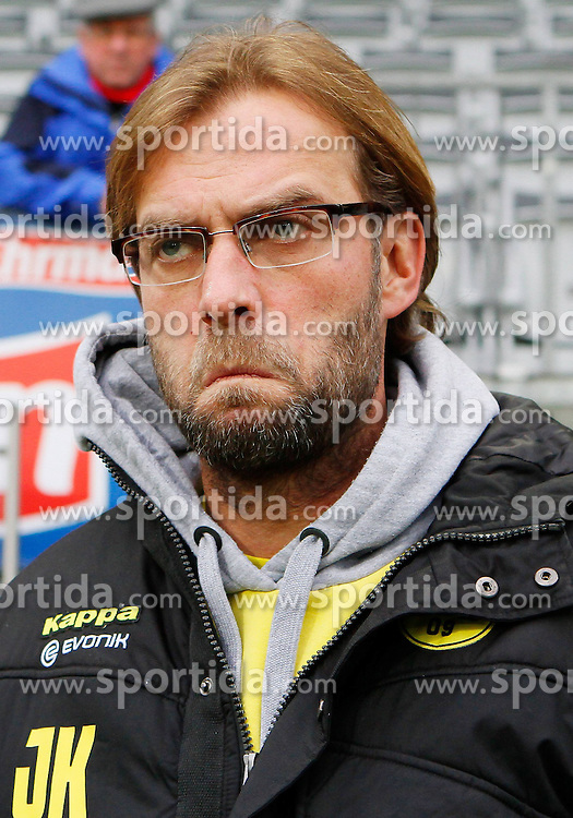 17.12.2011, Badenova Stadion, Freiburg, GER, 1.FBL, SC Freiburg vs BvB Borussia Dortmund, Juergen KLOPP, Trainer Borussia Dortmund, Portrait, Porträt // during the match from GER, 1.FBL, SC Freiburg vs BvB Borussia Dortmund on 2011/12/17, Badenova Stadion, Freiburg, Germany.Foto © nph/ A.Huber..***** ATTENTION - OUT OF GER, CRO *****