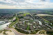 Nederland, Zeeland, Zeeuws-Vlaanderen, 19-10-2014; Breskens.<br /> Roompot Vakanties Zeebad, naast de veerhaven.<br /> <br /> <br /> luchtfoto (toeslag op standard tarieven);<br /> aerial photo (additional fee required);<br /> copyright foto/photo Siebe Swart