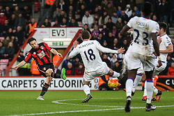 Harry Arter of Bournemouth shot is saved by Wayne Hennessey of Crystal Palace - Mandatory by-line: Jason Brown/JMP - Mobile 07966 386802 26/12/2015 - SPORT - FOOTBALL - Bournemouth, Vitality Stadium - AFC Bournemouth v Crystal Palace - Barclays Premier League