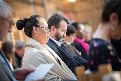 20 September 2017, Geneva, Switzerland: Morning prayers at the Ecumenical Centre in Geneva, as World Council of Churches staff gather for the annual Staff Enrichment Days. Here, Katalina Tahaafe-Williams.