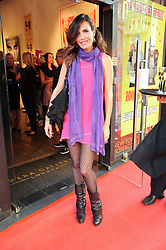 SOPHIE ANDERTON at a private view of an exhibition of work by artists Zoobs and Lodola held at The Opera Gallery, 134 New Bond Street, London on 16th June 2010.