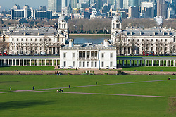 ©Licensed to London News Pictures 06/02/2020<br /> Greenwich, UK. The Queen's House, Greenwich Park. A bright sunny day with some blue sky in Greenwich Park, Greenwich, London. Photo credit: Grant Falvey/LNP