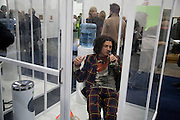 SMOKING ROOM; BRICE CONIGLIO, Frieze Art Fair 2008. Regent's Park. London. 15 October 2008 *** Local Caption *** -DO NOT ARCHIVE -Copyright Photograph by Dafydd Jones. 248 Clapham Rd. London SW9 0PZ. Tel 0207 820 0771. www.dafjones.com