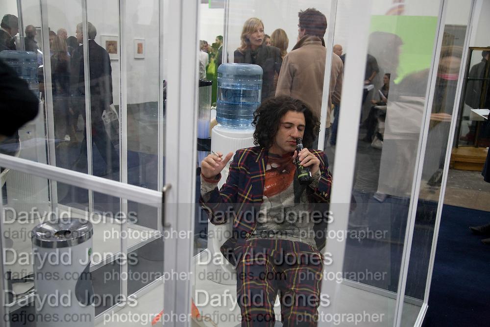 SMOKING ROOM; BRICE CONIGLIO, Frieze Art Fair 2008. Regent's Park. London. 15 October 2008 *** Local Caption *** -DO NOT ARCHIVE -Copyright Photograph by Dafydd Jones. 248 Clapham Rd. London SW9 0PZ. Tel 0207 820 0771. www.dafjones.com