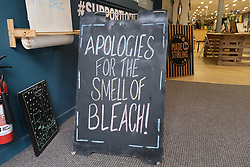 General views of Stirling City centre and shops during the Coronavirus outbreak, 18 March 2020<br /> <br /> Pictured: One shop shows a sense of humour during the pandemic<br /> <br /> Alex Todd | Edinburgh Elite media