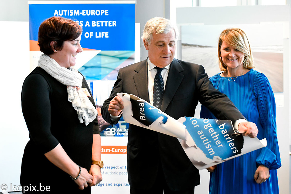Antonio TAJANI - EP President visits the exhibition on Autism - ' Break Barriers Together for Autism '