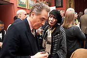 PETER YORK; HENRIETTA GARNETT (survivor of Bloomsbury Group, Party to celebrate the publication of Animal Magic by Andrew Barrow. Tite St. London. 28 February 2011.  -DO NOT ARCHIVE-© Copyright Photograph by Dafydd Jones. 248 Clapham Rd. London SW9 0PZ. Tel 0207 820 0771. www.dafjones.com.