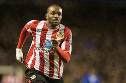 LIVERPOOL, ENGLAND - Wednesday, January 27, 2010: Sunderland's Darren Bent during the Premiership match against Everton at Goodison Park. (Photo by: David Rawcliffe/Propaganda)