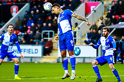 Jonson Clarke-Harris of Bristol Rovers heads the ball away in a dangerous area - Mandatory by-line: Ryan Crockett/JMP - 18/01/2020 - FOOTBALL - Aesseal New York Stadium - Rotherham, England - Rotherham United v Bristol Rovers - Sky Bet League One