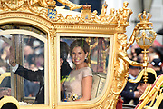 Prinsjesdag - Koninklijke familie in de Gouden Koets<br /> <br /> Budget Day - Royal family in the Golden Coach<br /> <br /> Op de foto / On the photo:  Koning Willem Alexander en Koningin Maxima in de Gouden Koets / King Willem Alexander and Queen Maximas in the Golden Coach