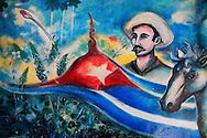 Mural in Alquizar, Artemisa, Cuba.