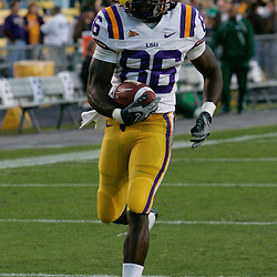 Oct 31, 2009; Baton Rouge, LA, USA;  LSU Tigers wide receiver Chris Mitchell (86) during warm ups prior to kickoff against the Tulane Green Wave at Tiger Stadium. LSU defeated Tulane 42-0. Mandatory Credit: Derick E. Hingle