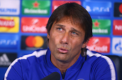 September 11, 2017 - Cobham, United Kingdom - Antonio Conte, manager of Chelsea during a press conference at Cobham Training Ground on 10September 2017 in Cobham, England. (Credit Image: © Kieran Galvin/NurPhoto via ZUMA Press)