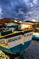 Praia da Armação ao anoitecer. Florianópolis, Santa Catarina, Brasil. / Armacao Beach at evening. Florianopolis, Santa Catarina, Brazil.