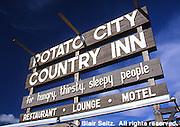 Signs, Americana tinny towns, Potter Co., PA., Potato City Inn