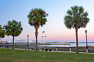 The end of of a beautiful day at the Waterfront Park in Charleston SC