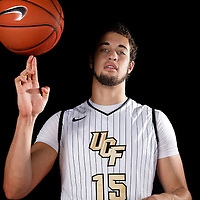 Forward Dylan Karell poses during the Knights media day event at the University of Central Florida CFE Arena on Monday, October 7, 2013 in Orlando, Florida. (AP Photo/Alex Menendez)