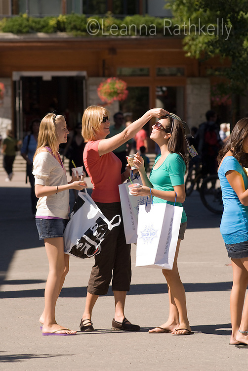 Ladies, from teens to Moms, enjoy a day shopping in Whistler Village in the summer.