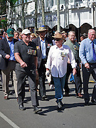 Veterans marching during Port Douglas ANZAC Day parade 2009.
