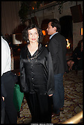 BIANCA JAGGER, Lisson Gallery reception at Chiltern Firehouse after the openings of work by Marina Abramovic: White Space and Nathalie Djurberg & Hans Berg: The Gates of the Festival, 15 September 2014