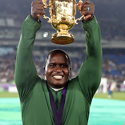 Trevor Nyakane during the Rugby World Cup Final match between South Africa Springboks and England Rugby World Cup Final at the International Stadium Yokohama  Japan.Saturday 02 November 2019. (Mandatory Byline -Steve Haag Sports Hollywoodbets)