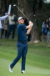 November 25, 2017 - Hong Kong, Hong Kong SAR, CHINA - HONG KONG SAR,CHINA: November 25,2017. Day 3 of the UBS Hong Kong Open Golf at Hong Kong Golf Club Fanling. Englands Justin Rose remains 5 under par 5 points behind the leader. Rose on the 18th fairway (Credit Image: © Jayne Russell via ZUMA Wire)