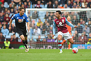Aston Villa defender Kieran Richardson (18) during the Barclays Premier League match between Aston Villa and Bournemouth at Villa Park, Birmingham, England on 9 April 2016. Photo by Jon Hobley.