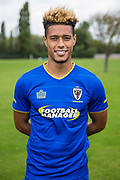 Lyle Taylor during the AFC Wimbledon Photocall 2017 at the Kings Sports Ground, New Malden, United Kingdom on 1 August 2017. Photo by Shane Healey.