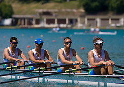Zupanc Janez, Fistravec Gasper, Jurse Janez, Iztok Cop at 54th International rowing Regatta, on June 13, 2009, at Bled lake, Slovenia. (Photo by Vid Ponikvar / Sportida)