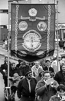 Askern Main Branch banner. 1991 Yorkshire Miners Gala. Doncaster.