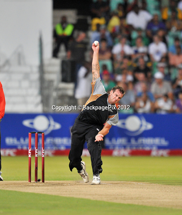 Doug Bracewell of New Zealand  during the 2012 New Zealand Tour South Africa cricket International T20 match between South Africa and New Zealand at the Kingsmead Stadium  in Durban , December 21 , 2012<br />   <br /> <br /> &copy; Sabelo Mngoma/BackpagePix
