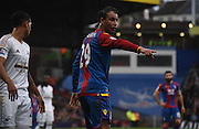 Marouane Chamakh gives his orders during the Barclays Premier League match between Crystal Palace and Swansea City at Selhurst Park, London, England on 28 December 2015. Photo by Michael Hulf.