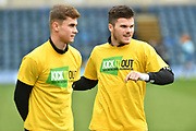 Port Vale players wearing Kick It Out shirts before the EFL Sky Bet League 2 match between Wycombe Wanderers and Port Vale at Adams Park, High Wycombe, England on 24 March 2018. Picture by Alistair Wilson.