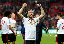 Juan Mata of Manchester United celebrates winning the FA Cup - Mandatory by-line: Robbie Stephenson/JMP - 21/05/2016 - FOOTBALL - Wembley Stadium - London, England - Crystal Palace v Manchester United - The Emirates FA Cup Final