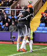 Willian of Chelsea scores a screamer to make it 0-2 and celebrates with Diego Costa of Chelsea during the Barclays Premier League match between Crystal Palace and Chelsea at Selhurst Park, London, England on 3 January 2016. Photo by Ken Sparks.