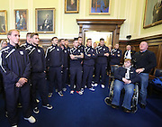 Dundee squad listen to the Lord Provost's congratulations - Dundee FC civic reception at Dundee City Chambers<br /> <br />  - &copy; David Young - www.davidyoungphoto.co.uk - email: davidyoungphoto@gmail.com