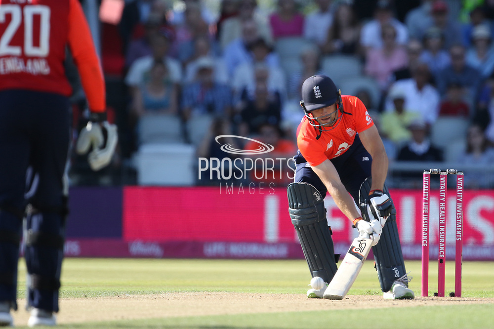 Jos Buttler (WK) ramp ball during the International T20 match between England and India at Old Trafford, Manchester, England on 3 July 2018. Picture by George Franks.