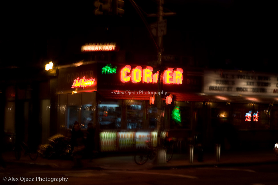 Corner Store in New York at night