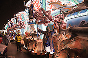 Side view of The Guardians of the Deep, by Ramblers CC, in the 2010 Bridgwater Carnival.