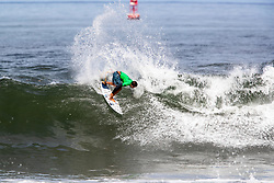 Miguel Pupo of Brazil advances to round 4 after placing second in round 3 heat 6 of the 2018 Hawaiian Pro at Haleiwa, Oahu, Hawaii, USA.