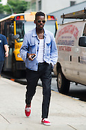 Denim Shirt and Red Shoes, Outside Tommy Hilfiger Men's SS2015