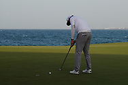Sami Valimaki (FIN) makes his putt to win the Oman Open 2020 at the Al Mouj Golf Club, Muscat, Oman . 01/03/2020<br /> Picture: Golffile | Thos Caffrey<br /> <br /> <br /> All photo usage must carry mandatory copyright credit (© Golffile | Thos Caffrey)