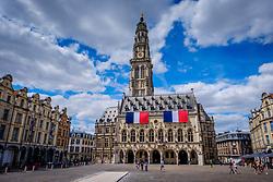 The Hotel de Ville (Town Hall) in Heroes Square, (Place des Héros), Arras, France<br /> <br /> (c) Andrew Wilson | Edinburgh Elite media