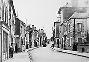Rue Saint Nicolas in Sable-sur-Sarthe, Pays de la Loire, France, in 1937, photograph by Lambert. Picture by Manuel Cohen / Further clearances required