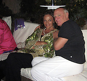 Dianne Von Furstenberg & Barry Diller.Vanity Fair Party at Hotel Du Cap .2007 Cannes Film Festival .Cap D' Antibes, France .Saturday, May 19, 2007.Photo By Celebrityvibe; .To license this image please call (212) 410 5354 ; or.Email: celebrityvibe@gmail.com ;