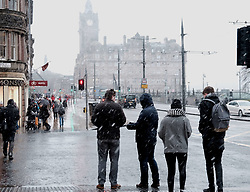 Snow fell in Edinburgh today as the temperature dropped.<br /> <br /> Alex Todd | EEm