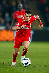 Philippe Coutinho of Liverpool in action - Photo mandatory by-line: Rogan Thomson/JMP - 07966 386802 - 16/03/2015 - SPORT - FOOTBALL - Swansea, Wales — Liberty Stadium - Swansea City v Liverpool - Barclays Premier League.
