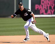 GLENDALE, ARIZONA - FEBRUARY 28:  Patrick Leonard #86 of the Chicago White Sox fields against the Texas Rangers on February 28, 2018 at Camelback Ranch in Glendale Arizona.  (Photo by Ron Vesely)  Subject:   Patrick Leonard