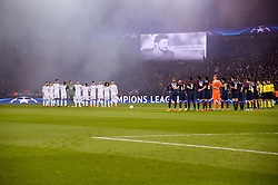March 6, 2018 - Paris, U.S. - Hommage to Davide Astori during the Champions League match Real Madrid at Paris Saint-Germain on March 6, 2018 in Paris, France. (Photo by Anthony Bibard/FEP/Panoramic/Icon Sportswire) ****NO AGENTS---NORTH AND SOUTH AMERICA SALES ONLY****NO AGENTS---NORTH AND SOUTH AMERICA SALES ONLY* (Credit Image: © Anthony Bibard/Icon SMI via ZUMA Press)
