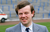 Richard Johnson, trustee, Linfield FC, Belfast, N Ireland, 19860403RJ..Copyright Image from Victor Patterson, 54 Dorchester Park, Belfast, UK, BT9 6RJ..Tel: +44 28 9066 1296.Mob: +44 7802 353836.Voicemail +44 20 8816 7153.Skype: victorpattersonbelfast.Email: victorpatterson@mac.com.Email: victorpatterson@ireland.com (back-up)..IMPORTANT: If you wish to use this image or any other of my images please go to www.victorpatterson.com and click on the Terms & Conditions. Then contact me by email or phone with the reference number(s) of the image(s) concerned.